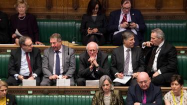 DUP MPs in the House of Commons