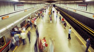 Fotografía del interior del metro de Rio de Janeiro