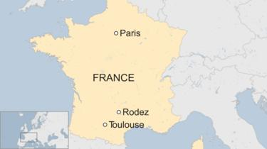 Map of Rodez, France