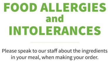 Food allergen sign
