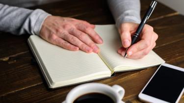 Écriture pour gaucher