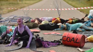 Protests against the Adani coal mine development in Bowen, Queensland, Australia (May 2019)