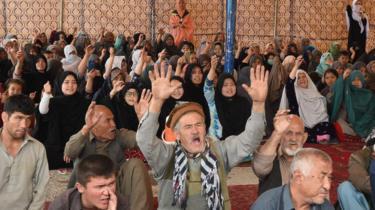 Hazara mourners in Quetta, 13 April