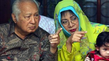 Mantan Presiden Suharto dan Tutut