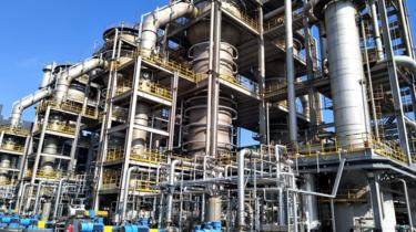 La planta de LanzaTech de etanol en China.