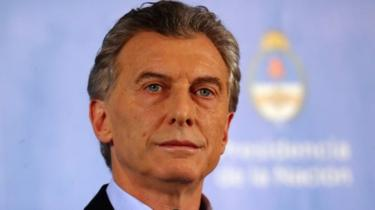Argentina's President Mauricio Macri pauses during a news conference at the Olivos Presidential Residence in Buenos Aires, Argentina, July 18, 2018