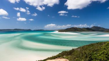 A view of Whitehaven Beach in Queensland's Whitsunday Islands