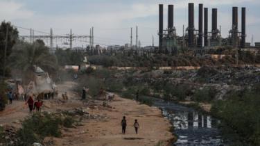 Vista geral da única usina de Gaza (18 de agosto de 2020)