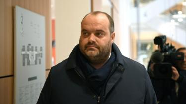 French meat supplier Spanghero's managing director Jacques Poujol arrives in a Paris court on 21 January 2019