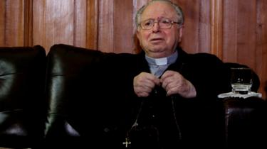 Chilean priest Fernando Karadima pictured in Santiago, Chile,