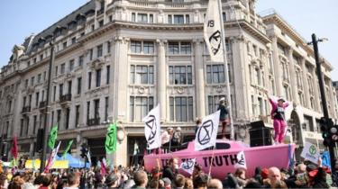 Protests at Oxford Circus