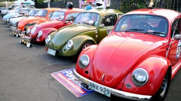 Vintage Volkswagen Beetle cars