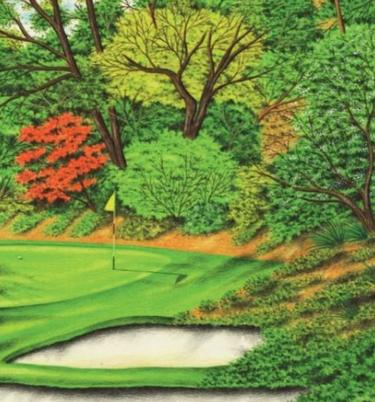Golf course drawing by Valentine Dixon