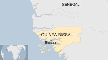 Map showing the location of Guinea-Bissau and Senegal