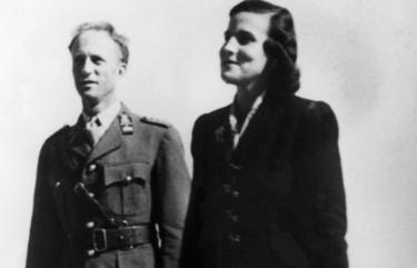 King Leopold III of Belgium with Princess Lilian in Switzerland in 1945
