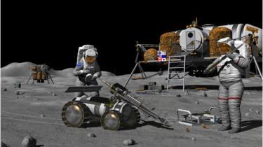 Astronautas na Lua