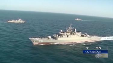 The frigate Jamaran takes part in a joint exercise in December 2019