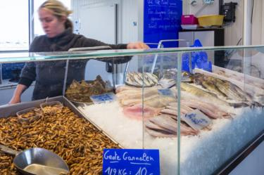 Ostend fish stall, file pic