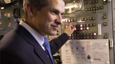 Former Defence Secretary Gavin Williamson during a visit to Vanguard-class submarine HMS Vigilant