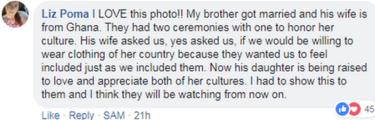 One woman described a mixed culture wedding in her family