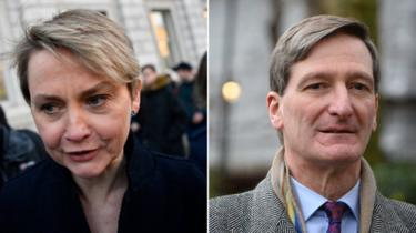 Yvette Cooper and Dominic Grieve