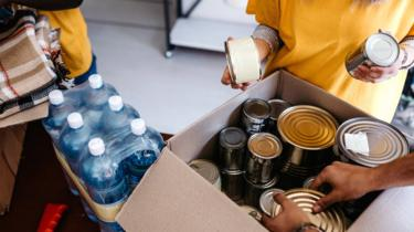 Stock food bank image