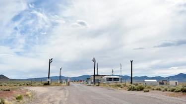 A back gate to the top-secret military installation in Nevada known as Area 51