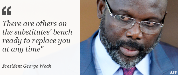 Quote: There are others on the substitutes' bench ready to replace you at any time