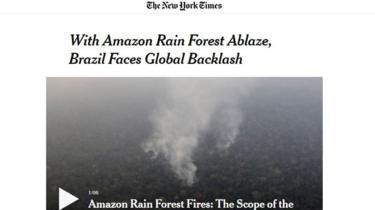 Reportagem do NYT sobre incêndios