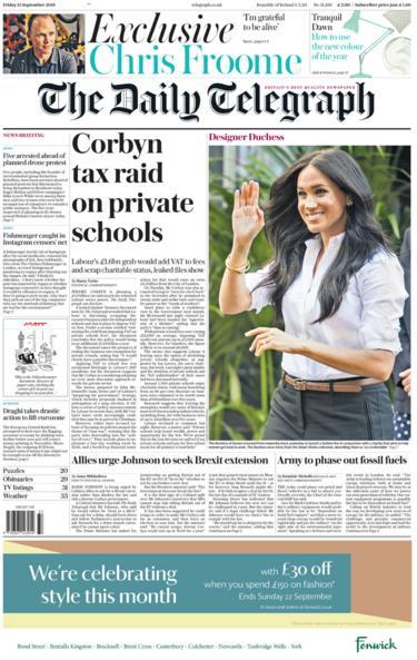Daily Telegraph 13 September 2019