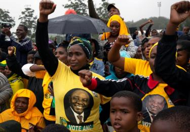 Supporters of the ANC