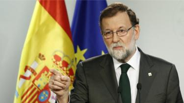 Spanish Prime Minister Mariano Rajoy speaks at a news conference at the end of the European Council Meeting in Brussels, Belgium, 20 October 2017.