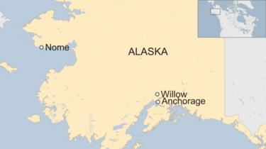 Alaska dog sled race: Crowds gather before Iditarod race starts.