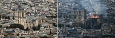 Before and after at Notre-Dame
