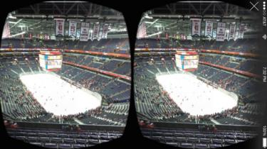 Stereoscopic image of sporting venue