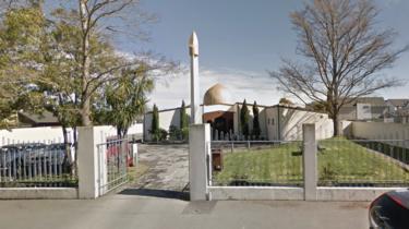 A google maps screengrab of the Al Noor mosque in Christchurch