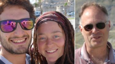 Collage of photograph of couple, along with Canadian found dead last week