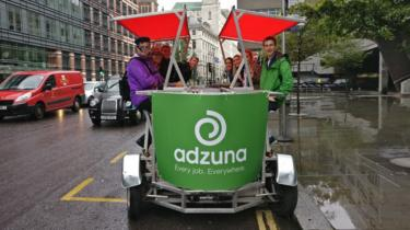 Adzuna staff on a charity pedibus ride
