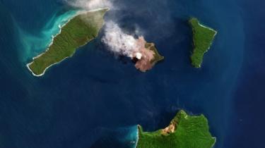 Gunung Api Anak Krakatau. Foto: Agustus 2018.