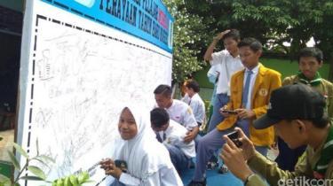 Para pelajar di Lamongan menolak perayaan tahun baru