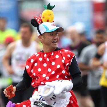 Runner in fancy dress