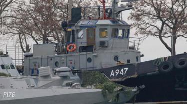 Kapal AL Ukraina yang ditahan militer Rusia