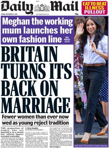 Daily Mail 13 September 2019