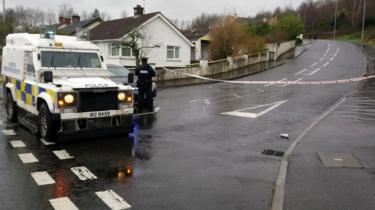 police cordon at southway in derry