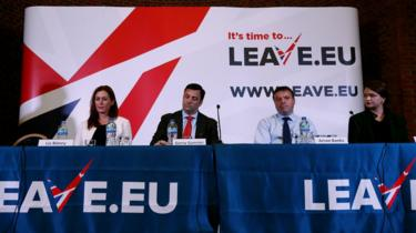 The launch of the Leave.EU campaigning organisation in 2015