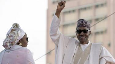 Aisha and Muhammadu Buhari in 2015