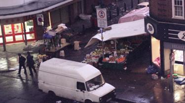 Scene of Brixton bombing