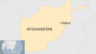 A BBC map showing the location of Kabul in Afghanistan