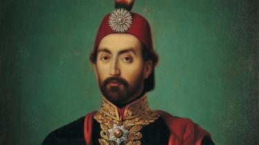 A portrait of Sultan Abdülmecid I, in regal clothing