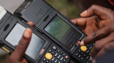 Smart Card Readers used to verify voters' identity